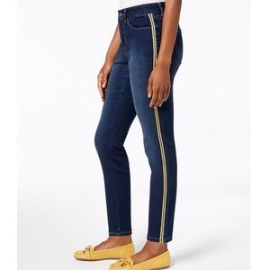 CHARTER CLUB Side Stripe Skinny Ankle Jeans